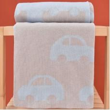 Knitted Blanket 3096 Cars Beige 70X90