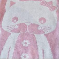 Knitted Blanket 3097 Kitten Pink 70X90