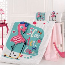 Bebe Sheets Set 4017 Flamingo 100X150 3pcs