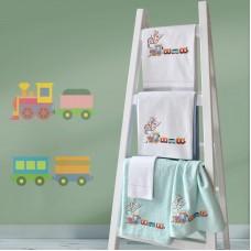 Towel Set 899 Train Embroidery 2pcs