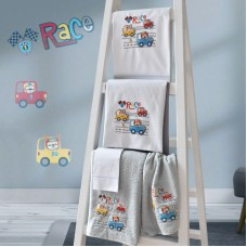Towel Set 899 Cars Embroidery 2pcs