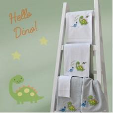 Towel Set 899 Dinosaur Embroidery 2pcs