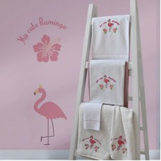 Towel Set 899 Flamingo Embroidery 2pcs