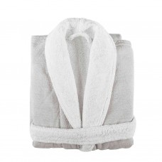 Bathrobe Linen Duo White