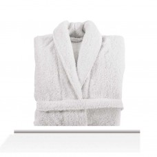 Bathrobe Long Double Loop White