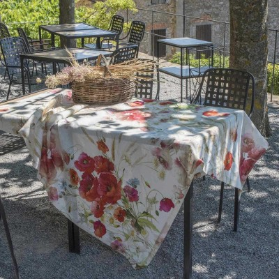 Table Toppers Coquelicot Linen