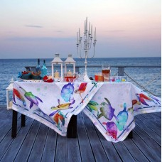 Tablecloth Galapagos White