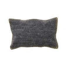 Decorative pillow Lotus Cot Black (30 × 50) Soulworks 0610002