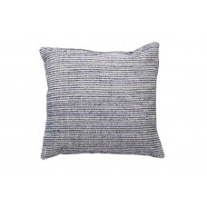 Decorative pillow Lotus Handwoven Ivory and Blue (50 × 50) Soulworks 0610005
