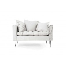 Two-seater sofa Denim Beige (135x73x79) Soulworks 0270001