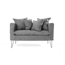 Two-seater sofa Denim Gray (135x73x79) Soulworks 0270002