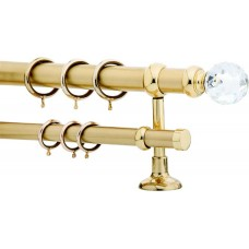 Curtain Rod Gold Mat F35 533 (Swarovski Φ60)