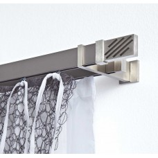 Curtain Rod Nickel Mat Linea Flat Rail