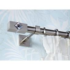 Curtain Rod Nickel Mat Caldera Crystal F25