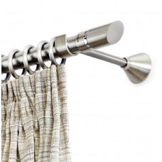 Curtain Rod Nickel Mat Biscuit F25