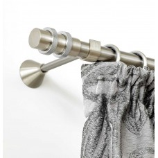 Curtain Rod Nickel Mat Lux F25