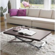 Coffee Table Punto chromed steel 70-140X120X22-78