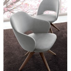 Chair Letizia L12 50x60x82 Wooden fixed base