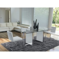 Table Chromed Free  Shining painted extralight glass 180x90x76