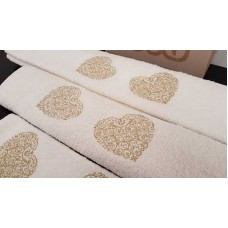 Set of towels Ecru 3pcs. Embroidery 99-001-001