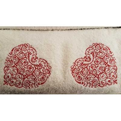 Set of towels Ecru 3pcs. Embroidery 99-001-002