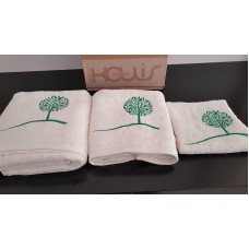 Set of towels 3pcs. Ecru Embroidery 99-001-004