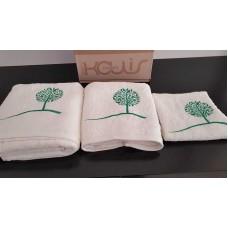 Σετ πετσέτες 3τμχ. Εκρού Κέντημα 99-001-004