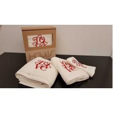 Σετ πετσέτες 3τμχ. Εκρού Κέντημα 99-001-005