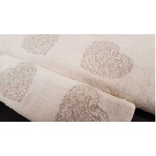 Set of towels 3pcs. Ecru Embroidery 99-001-008