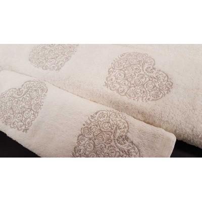 Set of towels 3pcs. Ecru Embroidery 99-001-008