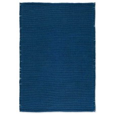 Combo Hand Woven Rug Blue