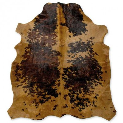 Cow Skin Dyed Brown spots