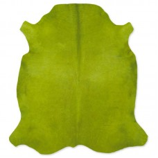 Cow Skin Dyed Green