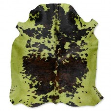 Cow Skin Dyed Green-Brown