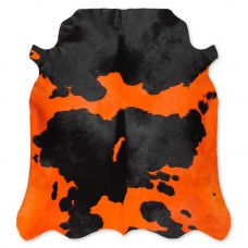 Cow Skin Dyed Orange-Black