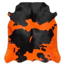 Cow Skin Dyed Orange-Black