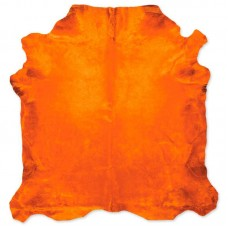 Cow Skin Dyed Orange