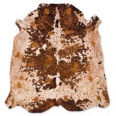 Cow Skin Acid Natural Brown-White