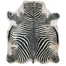 Cow Skin (printed) Zebra White-Black