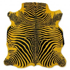 Cow Skin (printed) Zebra Yellow