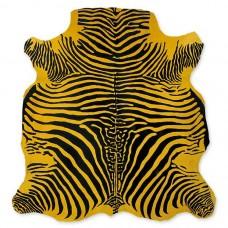 Cow Skin (printed) Zebra Yellow