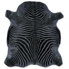 Cow Skin (printed) Zebra Dark Grey