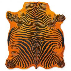 Cow Skin (printed) Zebra Orange