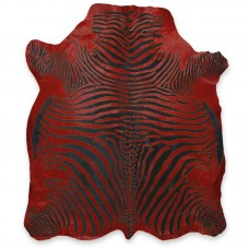 Cow Skin (printed) Zebra Red