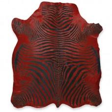 Cow Skin (printed) Zebra Red