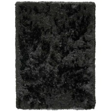 Grass Polyester Black Handmade Carpet