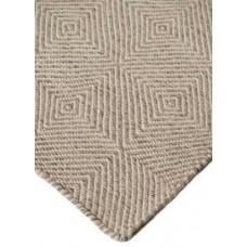 Μάλλινο Χειροποίητο Κιλίμι Herringbone Τετράγωνο Natural